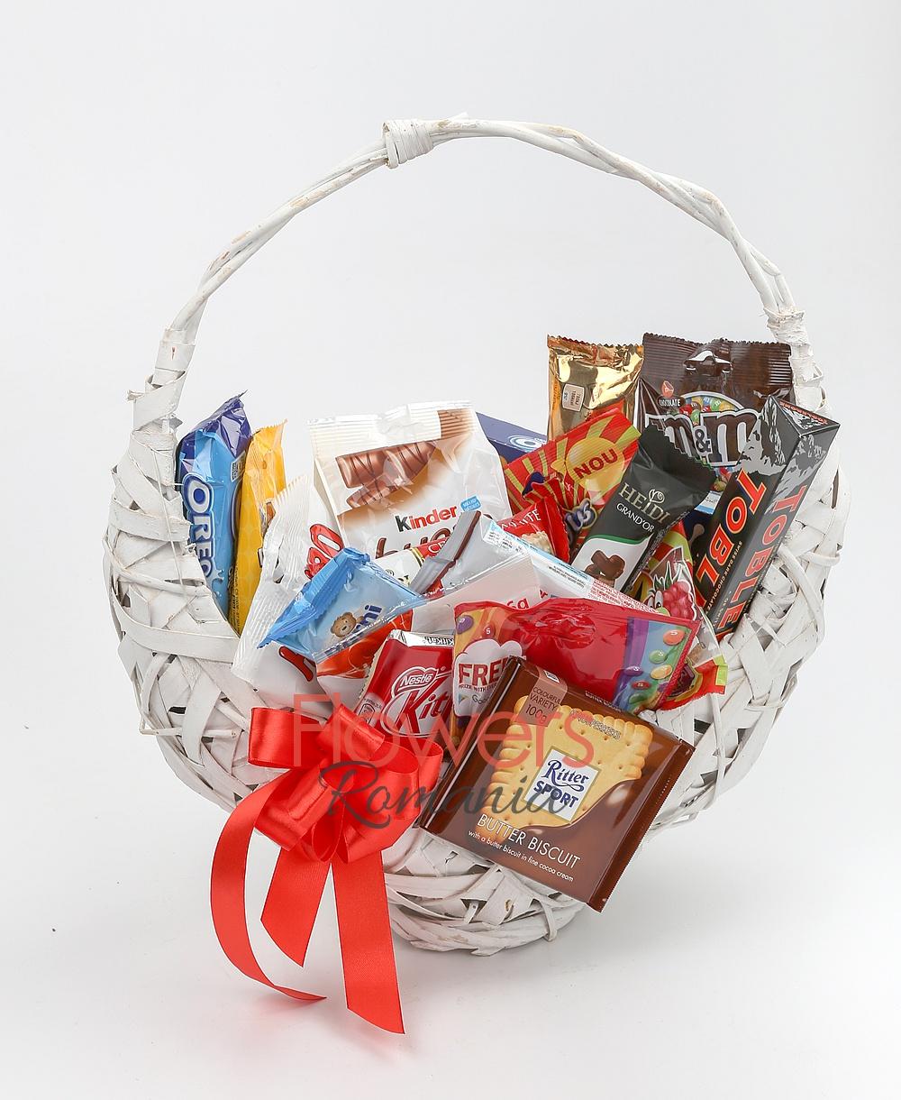 chocolate lover`s fine basket